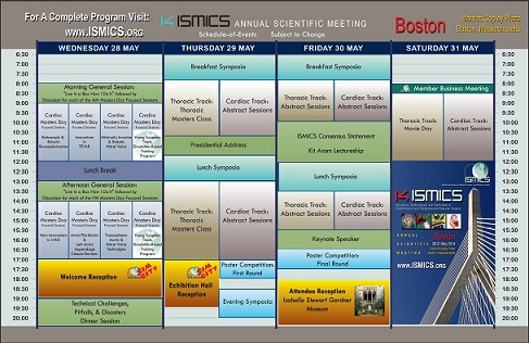 ISMICS Schedule at a Glance